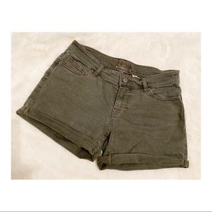 Olive BKE Denim Shorts